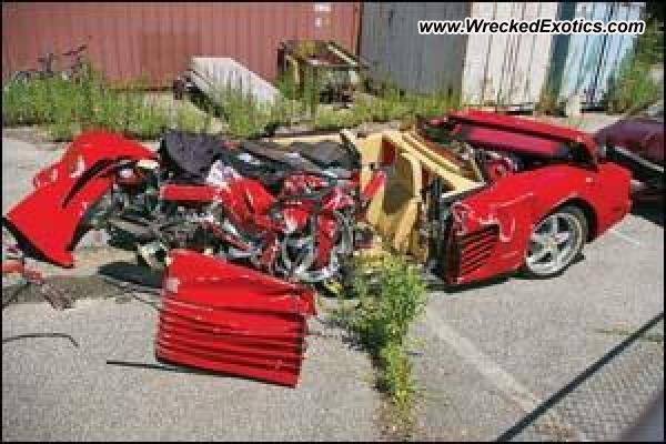 Ferrari Testarossa wrecked, Vernon, New Jersey