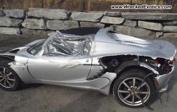 2005 Lotus Elise Wrecked North Kingstown Ri