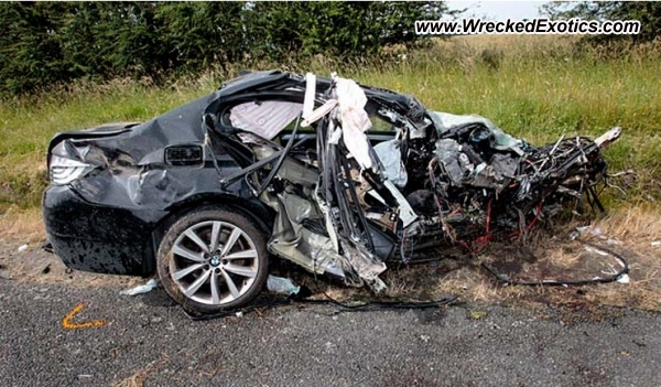 2010 BMW 535i wrecked Palmerston New Zealand