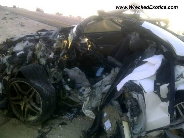 Mercedes Benz Sl63 Amg Wrecked Dammam Saudia Arabia