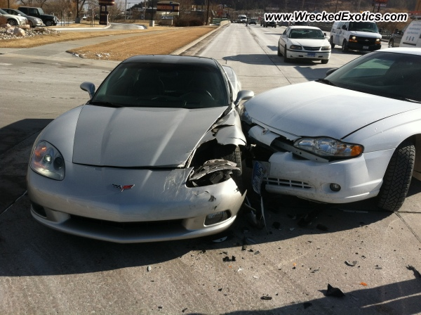 2005 Chevrolet Corvette Wrecked Rapid City Sd