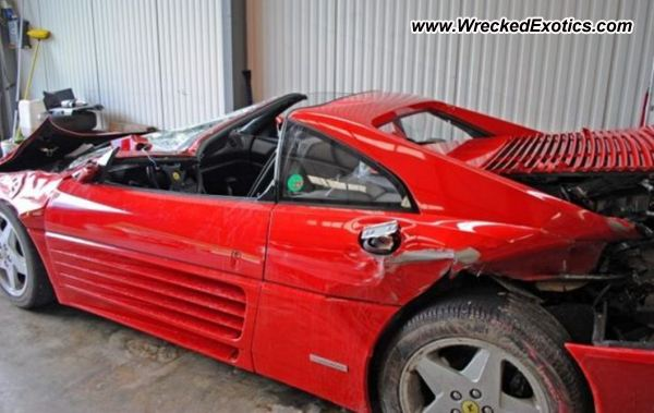 1991 ferrari 348 ts wrecked tavannes switzerland photo 2. Black Bedroom Furniture Sets. Home Design Ideas