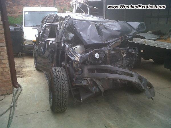Hummer H2 Wrecked Johannesburg Soth Africa