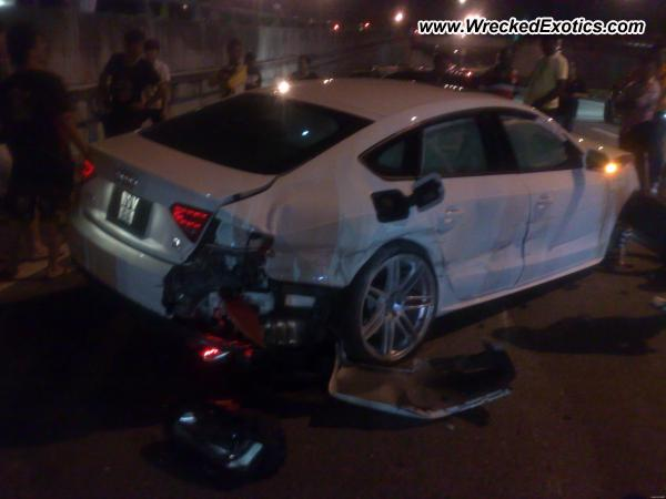 Audi A5 Sportback Wrecked Puchong Malaysia