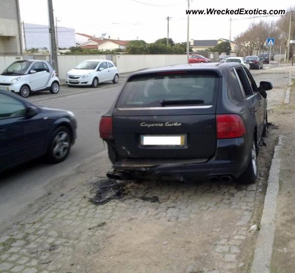 Bmw Z8 Salvage: 2007 Porsche Cayenne Turbo Wrecked, Granja, Portugal, Photo #2
