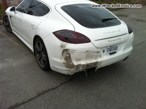 2011 Porsche Panamera Turbo Wrecked Montreal Canada