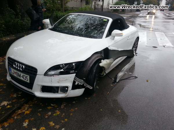 2007 Audi Tt Roadster Wrecked Ljubljana Slovenia