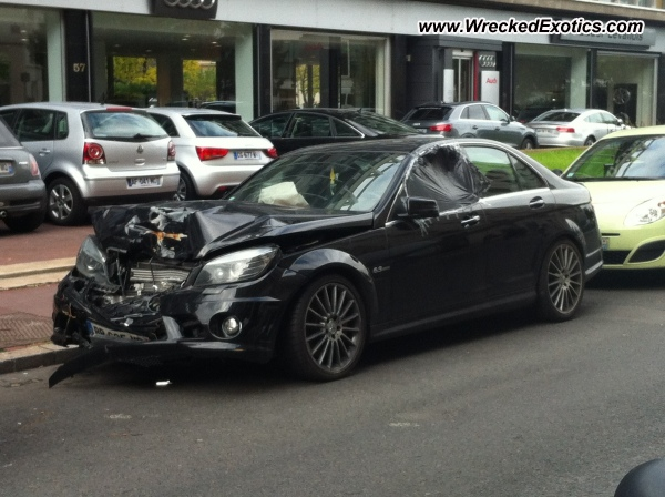 Mercedes C63 Amg Wrecked Paris France