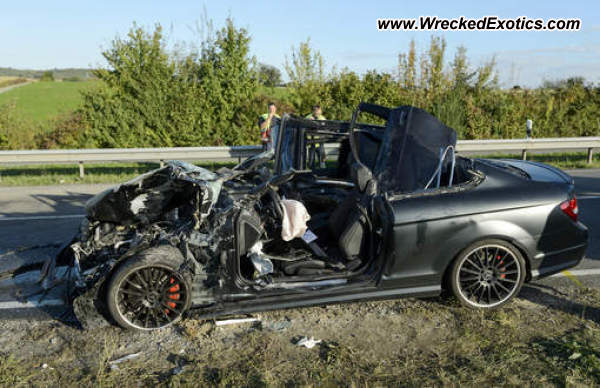 Mercedes Benz C63 Amg Wrecked Germany