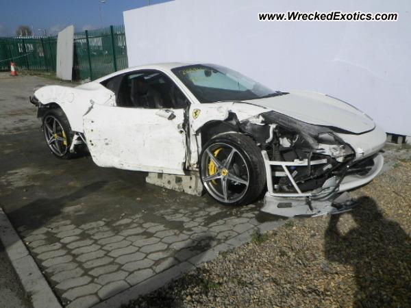 Ferrari 458 Italia Wrecked United Kingdom
