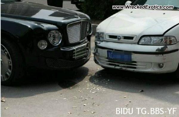 Bentley Mulsanne Wrecked Si Chuan China