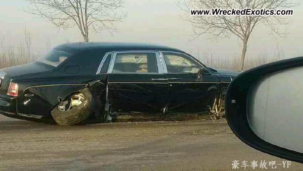 Rolls Royce Phantom Wrecked China
