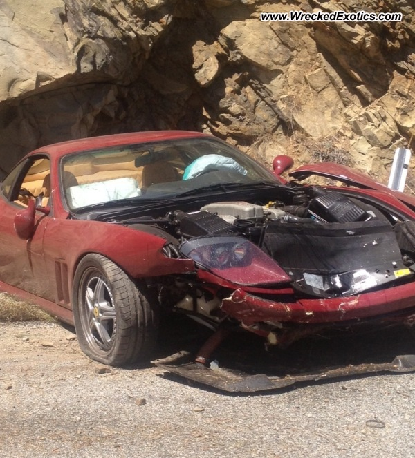 Bmw Z8 Salvage: 2006 Ferrari 575M Wrecked, Los Angeles, CA, Photo #2
