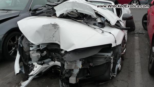 2013 Audi R8 Spyder Wrecked Los Angeles Ca