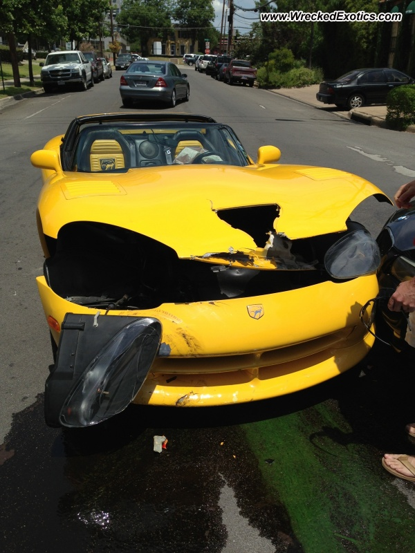 1998 Dodge Viper Wrecked Dallas Tx
