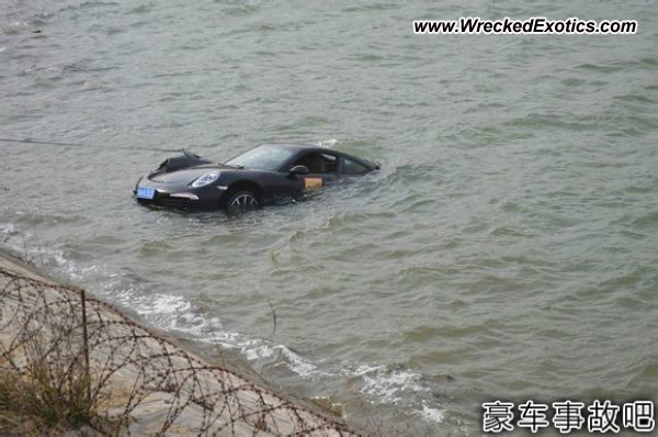 Porsche 911 sunken wreck