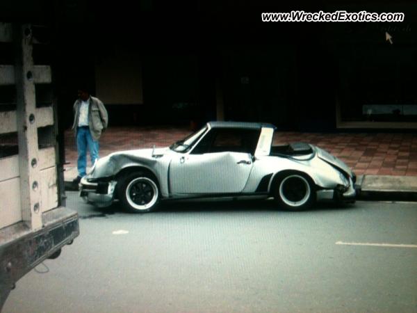 Porsche 911 Targa Wrecked Columbia