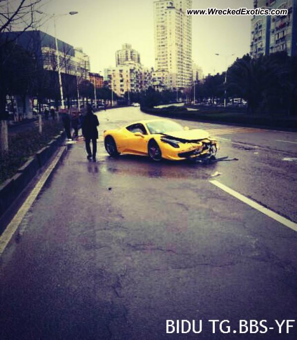 Bmw Z8 Salvage: Ferrari 458 Italia Wrecked, ZheJiang, China