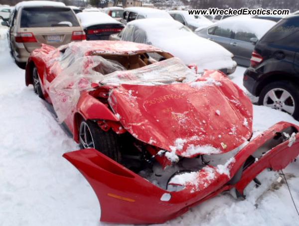 2011 Ferrari 458 Italia Wrecked New York Ny Photo 2
