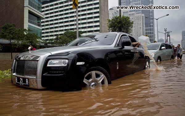 Rolls Royce Ghost Wrecked Jakarta Indonesia