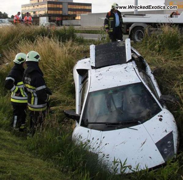 Bmw Z8 Salvage: Lamborghini Murcielago LP640 Wrecked, Oostende, Belgium