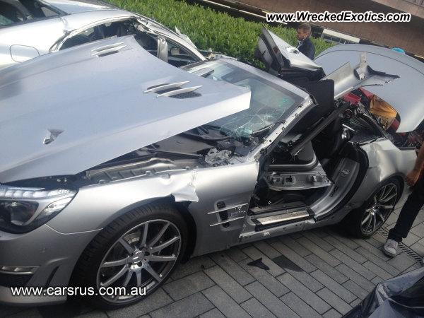 2013 Mercedes Benz Sl63 Wrecked Stuttgart Germany Photo 2