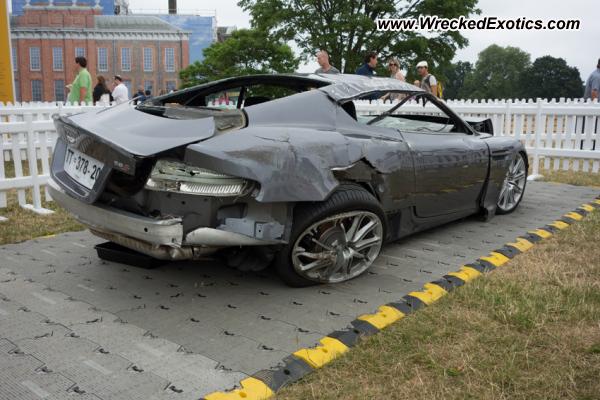 Aston Martin Dbs V12 Wrecked London England