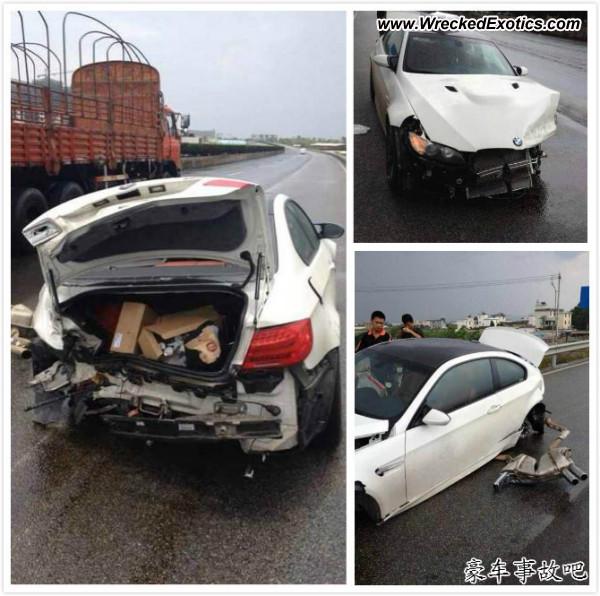 Bmw Z8 Salvage: BMW M3 E92 Wrecked, YN, China