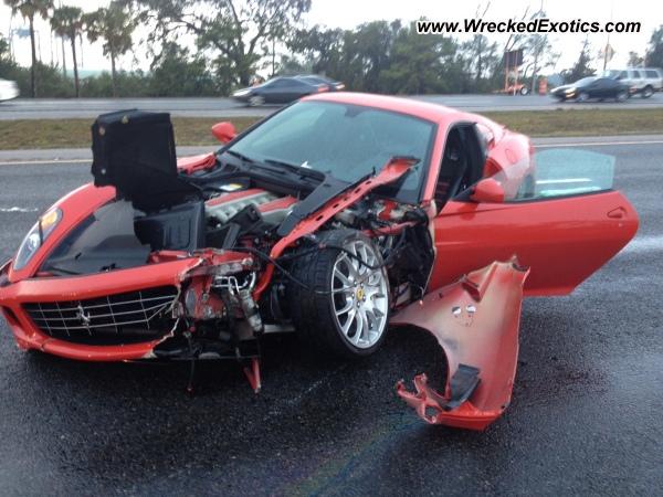 Ferrari 599 Gtb Wrecked Jacksonville Fl