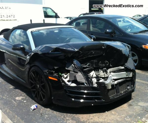 2012 Audi R8 V10 Spyder Wrecked Nashville Tn