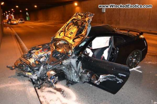 Nissan Skyline Gt R Wrecked Basel Switzerland
