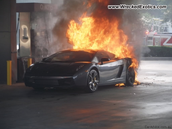 Lamborghini Gallardo Wrecked Toronto Canada