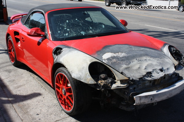 2012 Porsche 997 Turbo S Wrecked Los Angeles Ca