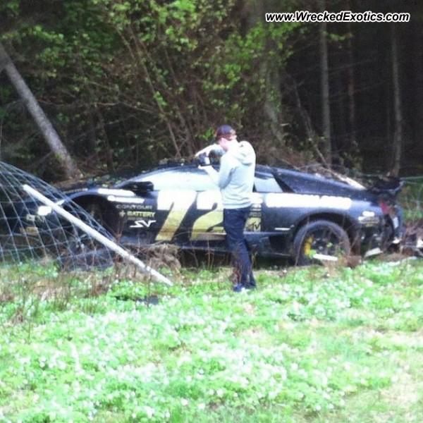 Bmw Z8 Salvage: Lamborghini Murcielago LP-670-4 SV Wrecked, Mjolby, Sweden