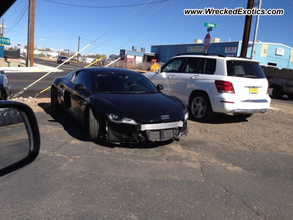 Audi R8 wrecked, Albuquerque, NM
