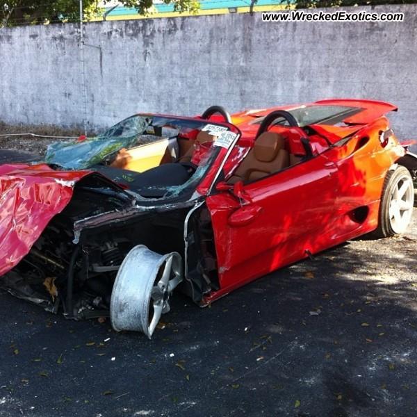 Bmw Z8 Salvage: Ferrari 360 Modena Spider Wrecked, Florida, Photo #2
