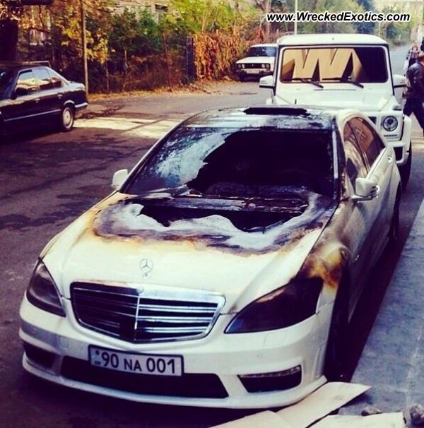 Bmw Z8 Salvage: Mercedes S63 AMG Wrecked, Yerevan, Armenia