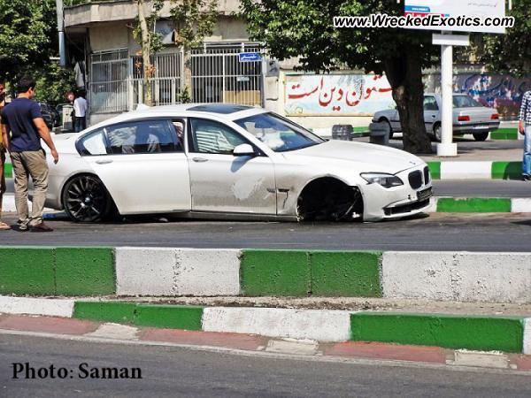 2012 Bmw 750 Li Wrecked Tehran Iran