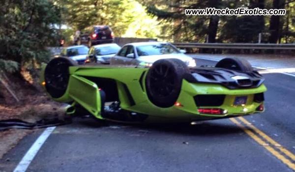 Lamborghini Aventador Wrecked Half Moon Bay Ca