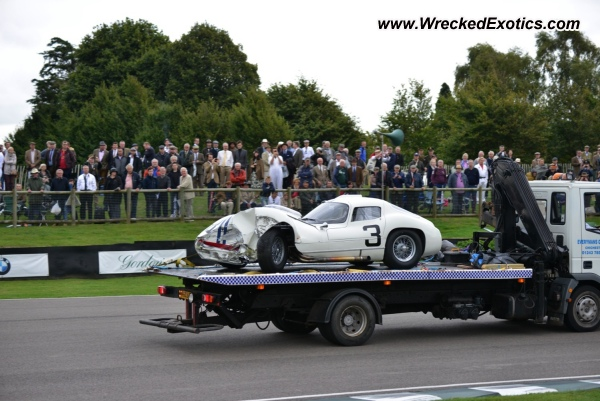 Wrecked Maserati Tipo 151 at Goodwood Festival of Speed