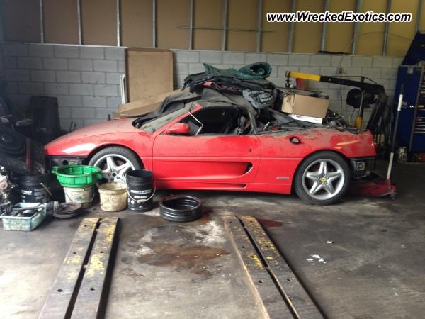 Ferrari F355 Spider Wrecked Kitchener Canada