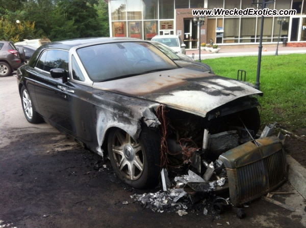 Rolls Royce Ghost Wrecked Rostov On Don Russia