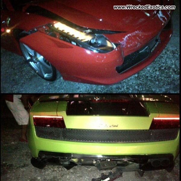Bmw Z8 Salvage: Ferrari 458 Italia And Lamborghini Gallardo Wrecked