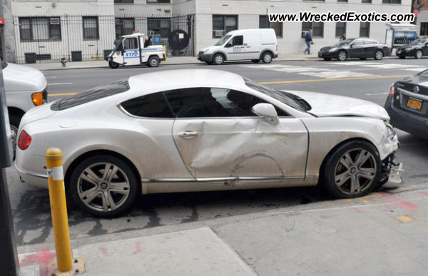 2013 Bentley Continental Gt Wrecked New York Ny