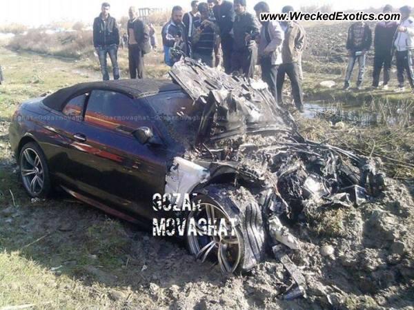BMW I Convertible Wrecked Mazandaran Iran - 2013 bmw 650i convertible