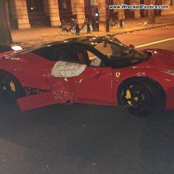 Ferrari 458 Italia Wrecked, London, England