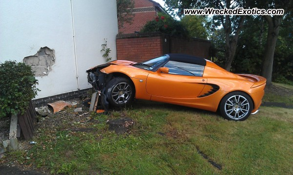 2008 Lotus Elise SC (supercharged) wrecked, Derby, England