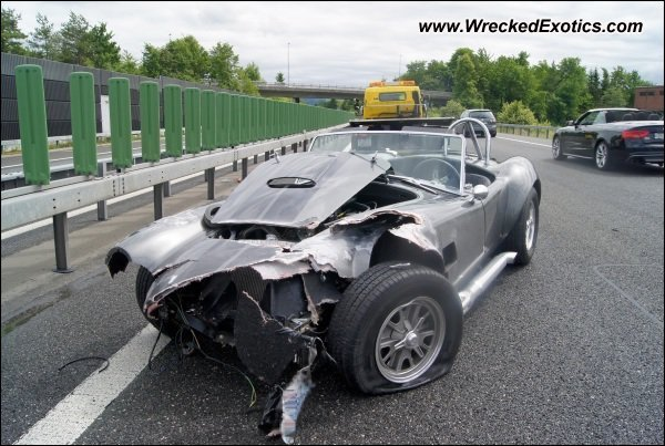 Shelby Cobra Wrecked Switzerland