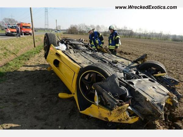 Ferrari F355 mishap while plowing a field in Germany