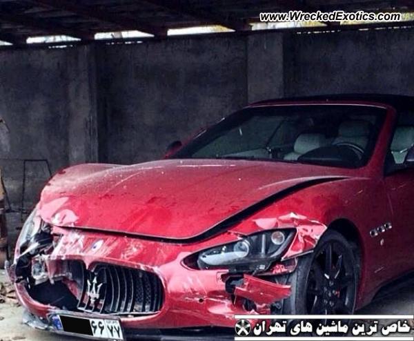 2012 Maserati Granturismo Grancabrio Wrecked Tehran Iran